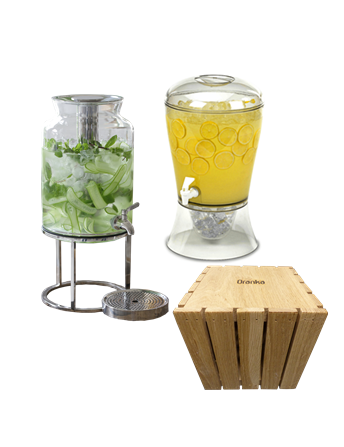 Tilt Dispenser Acrylic Dispenser and Wooden Riser